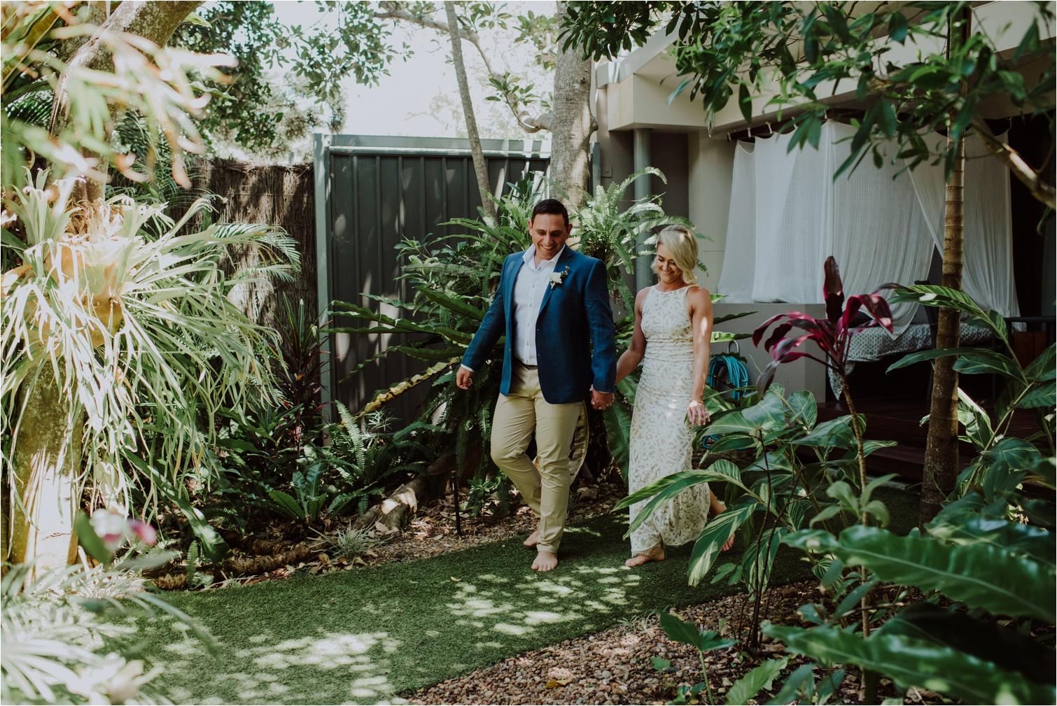 Barefoot Broken Head garden wedding