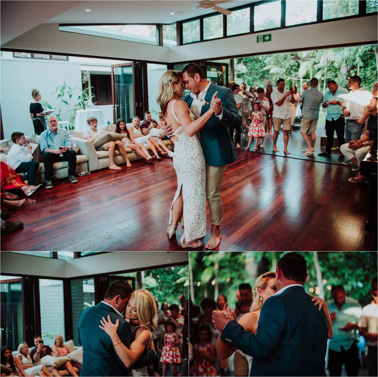 Barefoot at broken head wedding first dance