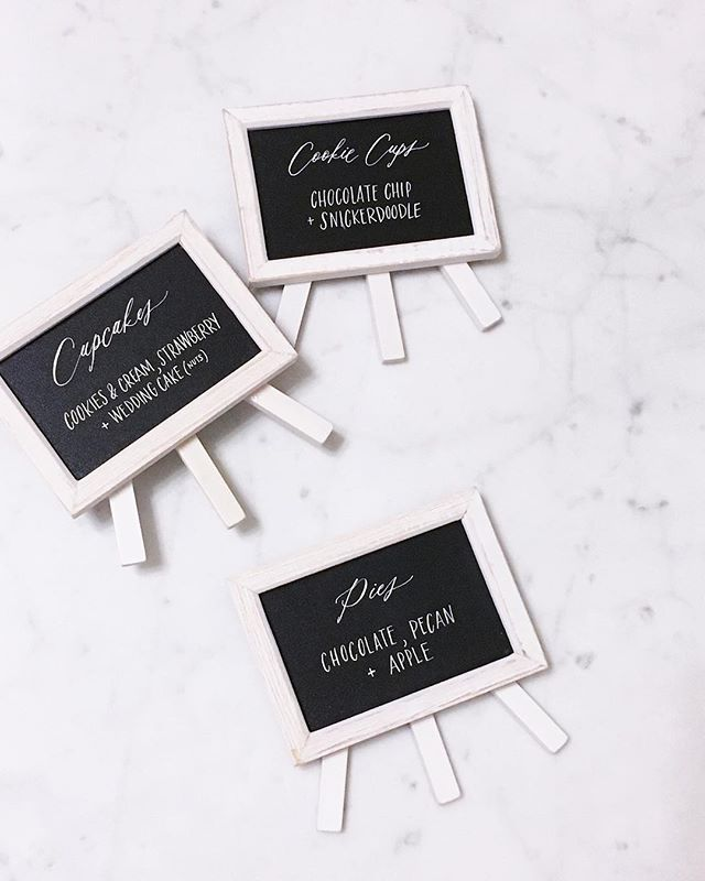 Mini signs for a dessert table✨I think I'll take one of each please🤤
