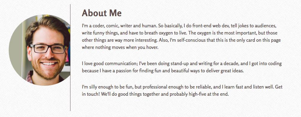 How asaf sells himself on his personal website www.coderofnote.com