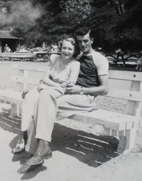 The dating couple in 1949.