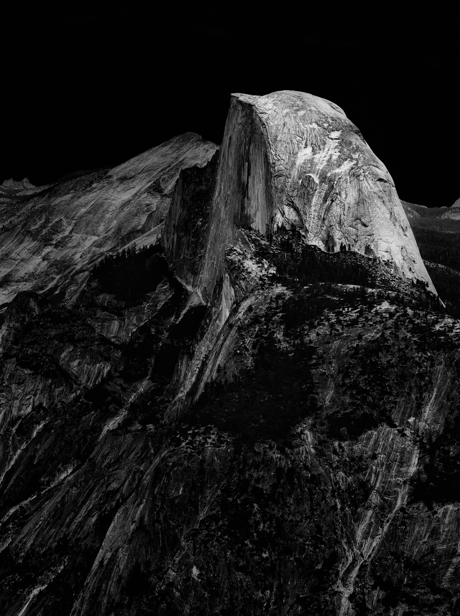 Half Dome in the Moonlight, 2015
