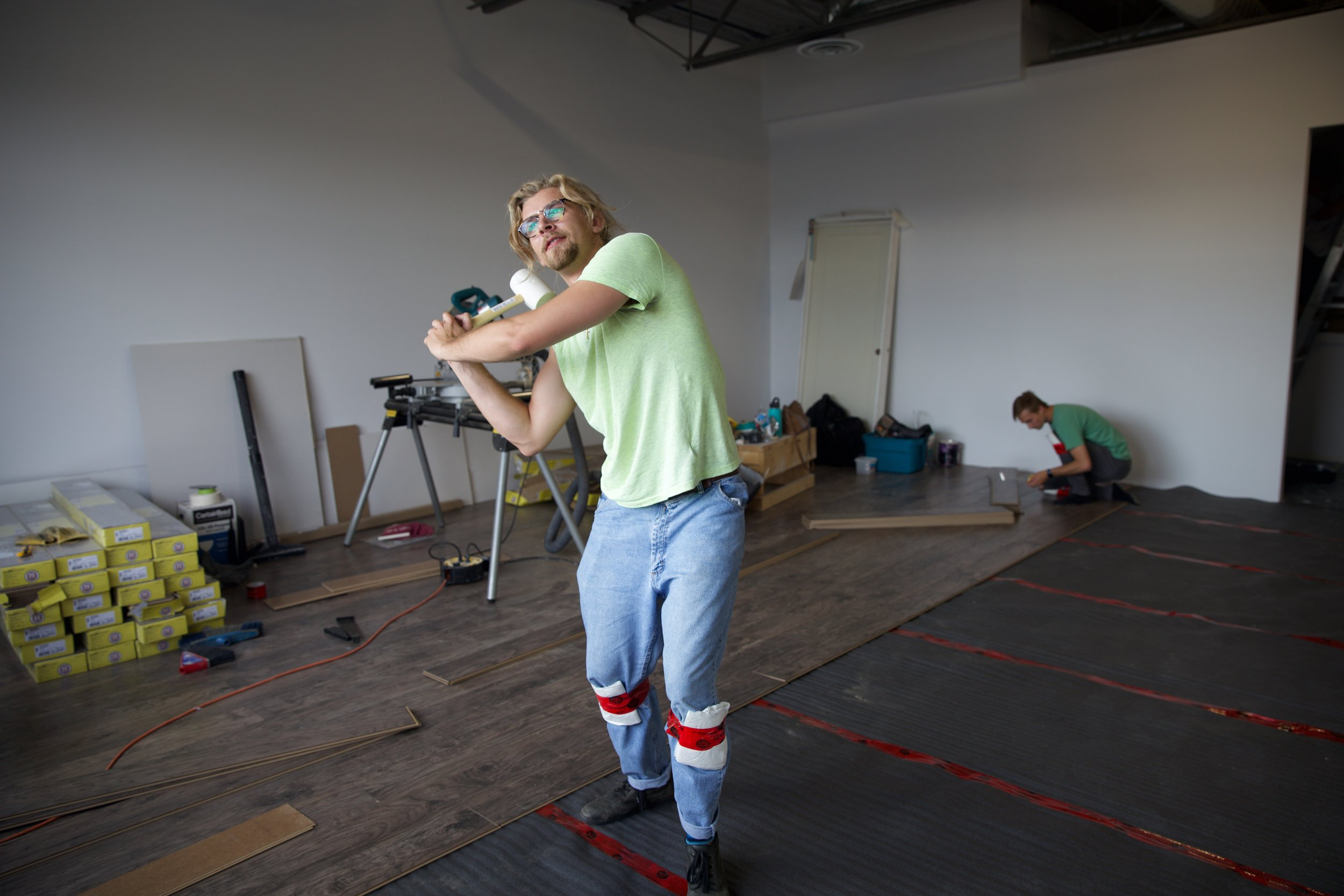 "This filmmaker needs to keep his day job. Note: ""mom-jeans"", duct-taped/paper towel knee pads and improper use of tools."