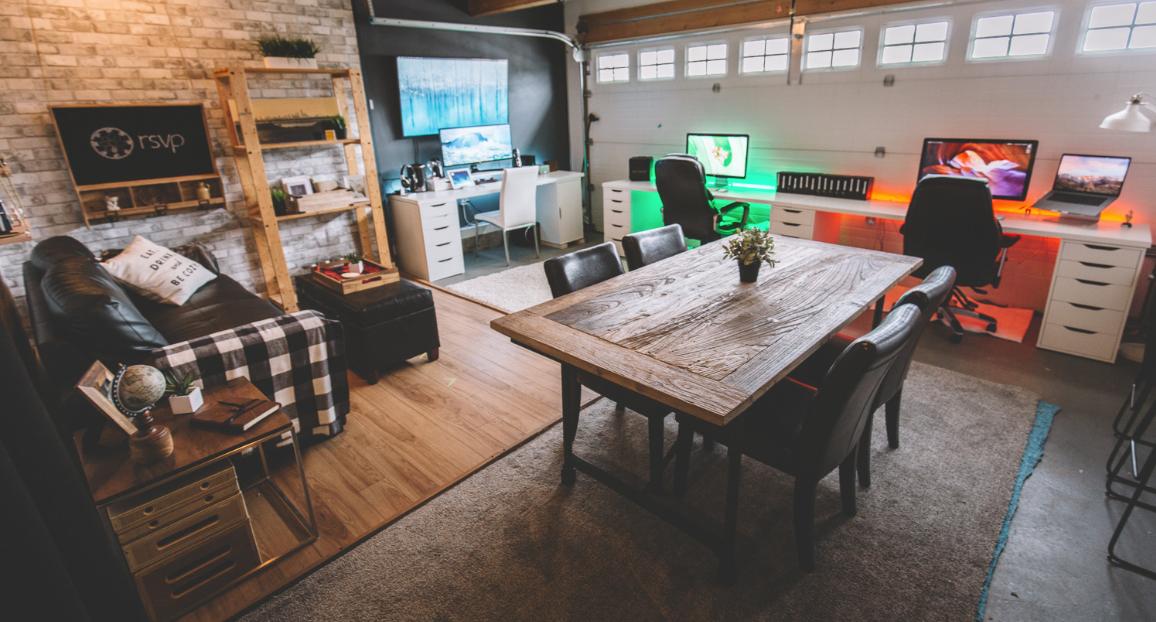 Our beginnings - Iconium's original studio space began in a garage…