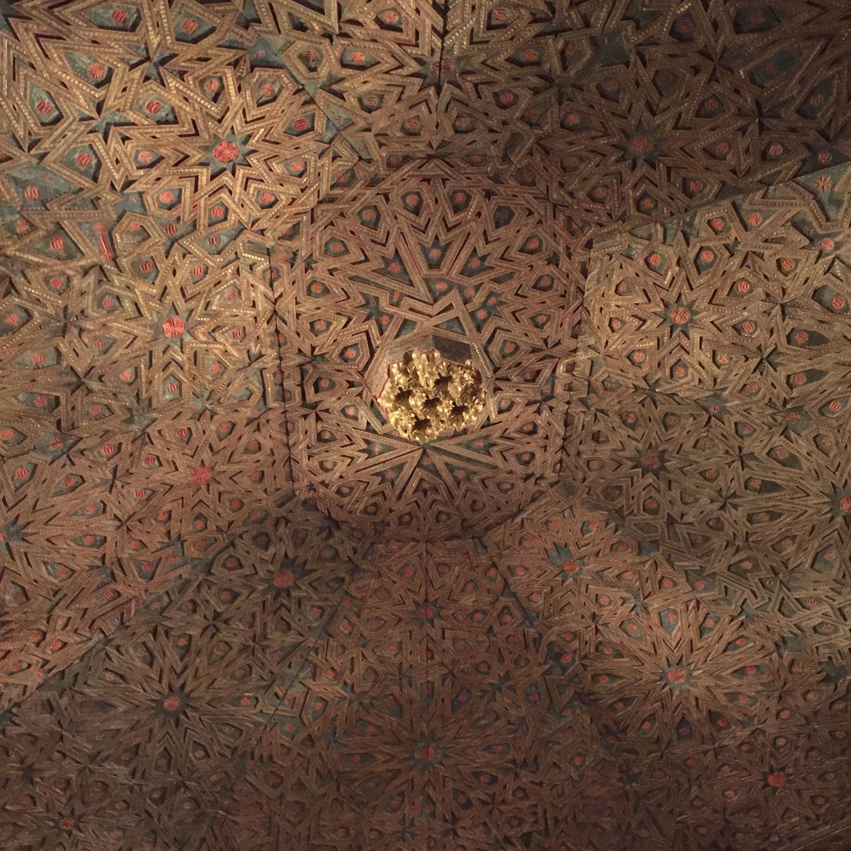 Islamic art. Ceiling at Metropolitan Museum of Art