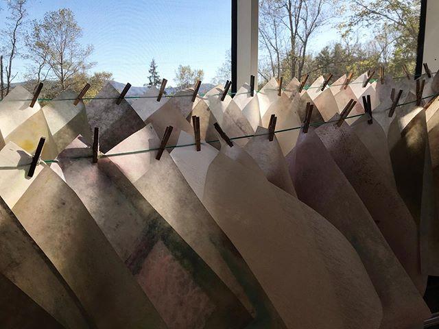 Drying pellons @penlandbooksandpaper 💕