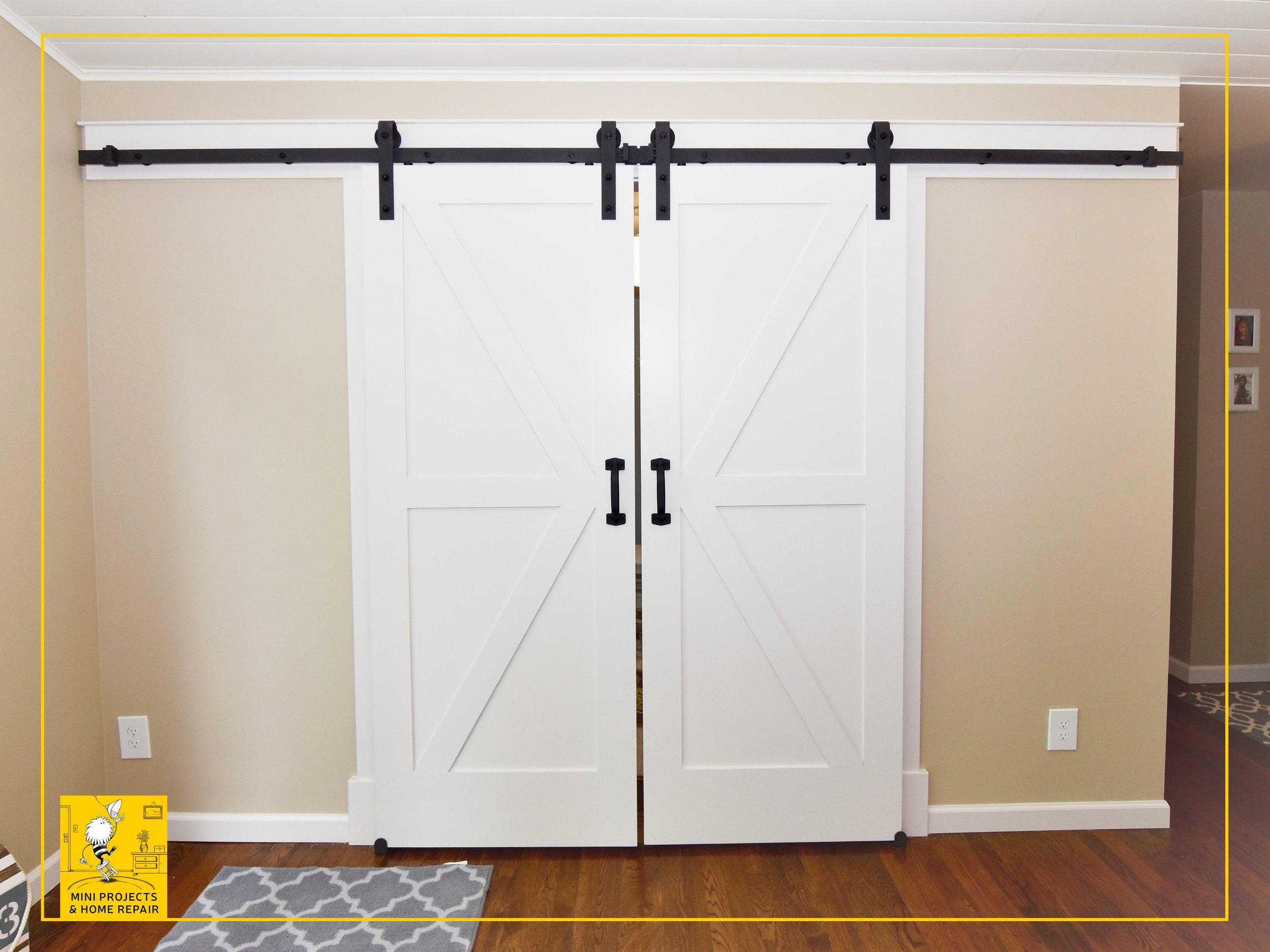Barn doors installation