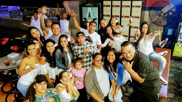 March 25, 2017 The Malu Cast enjoying a night out at Aiea Bowl. What a fun night!