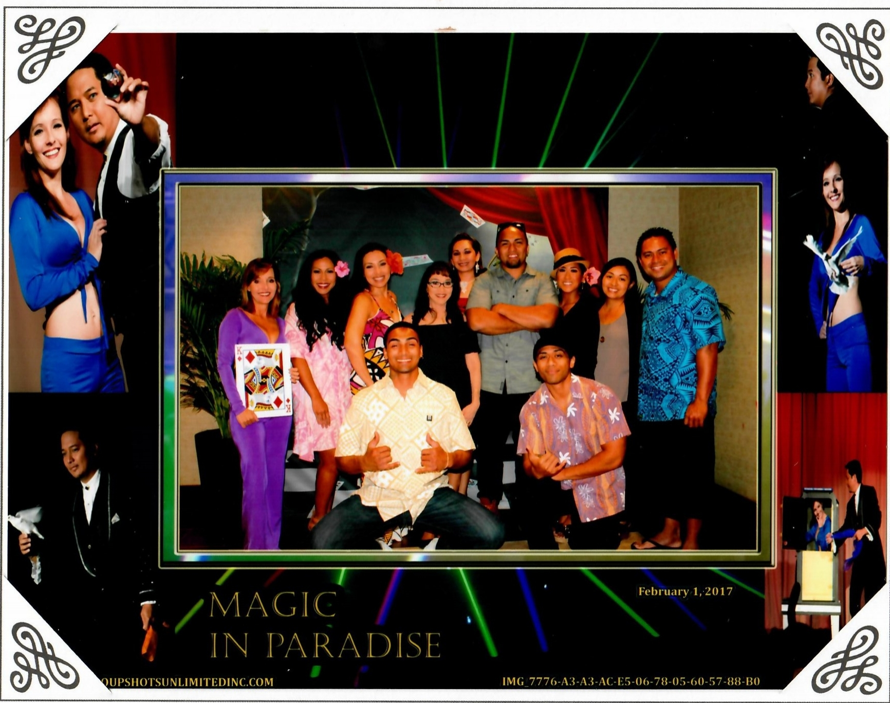 February 15, 2017 Our Performance Management Team watching Mark Mauricio's Magic Show at Hale Koa. What an entertaining show!!