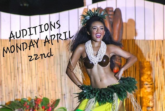 ⚠️AUDITIONS⚠️ Looking for a job? Got the urge to dance? Come down & show us what you've got! • •  WHERE: Hale Koa Luau Gardens •  WHEN: Monday, April 22nd • TIME: 8:45pm Registration, 9:15pm Audition • • Please message for more info!