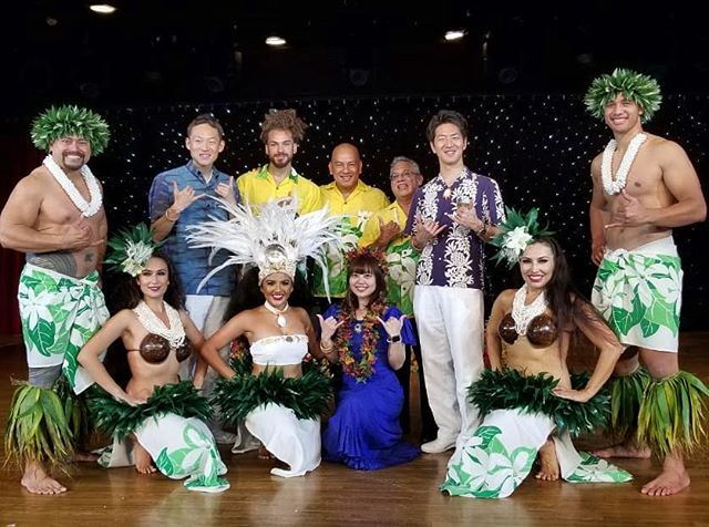 Here's a photo of our dancers & musicians that performed on the Asuka Cruise 2019! They sailed all the way from Japan to Hawai'i 💚💛 #AsukaCruise2019