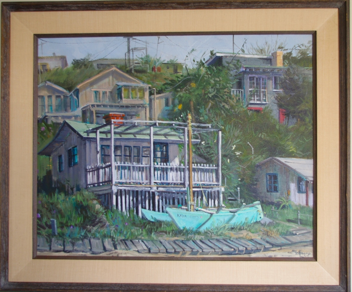 Original painting of Ann's family cabin growing up.