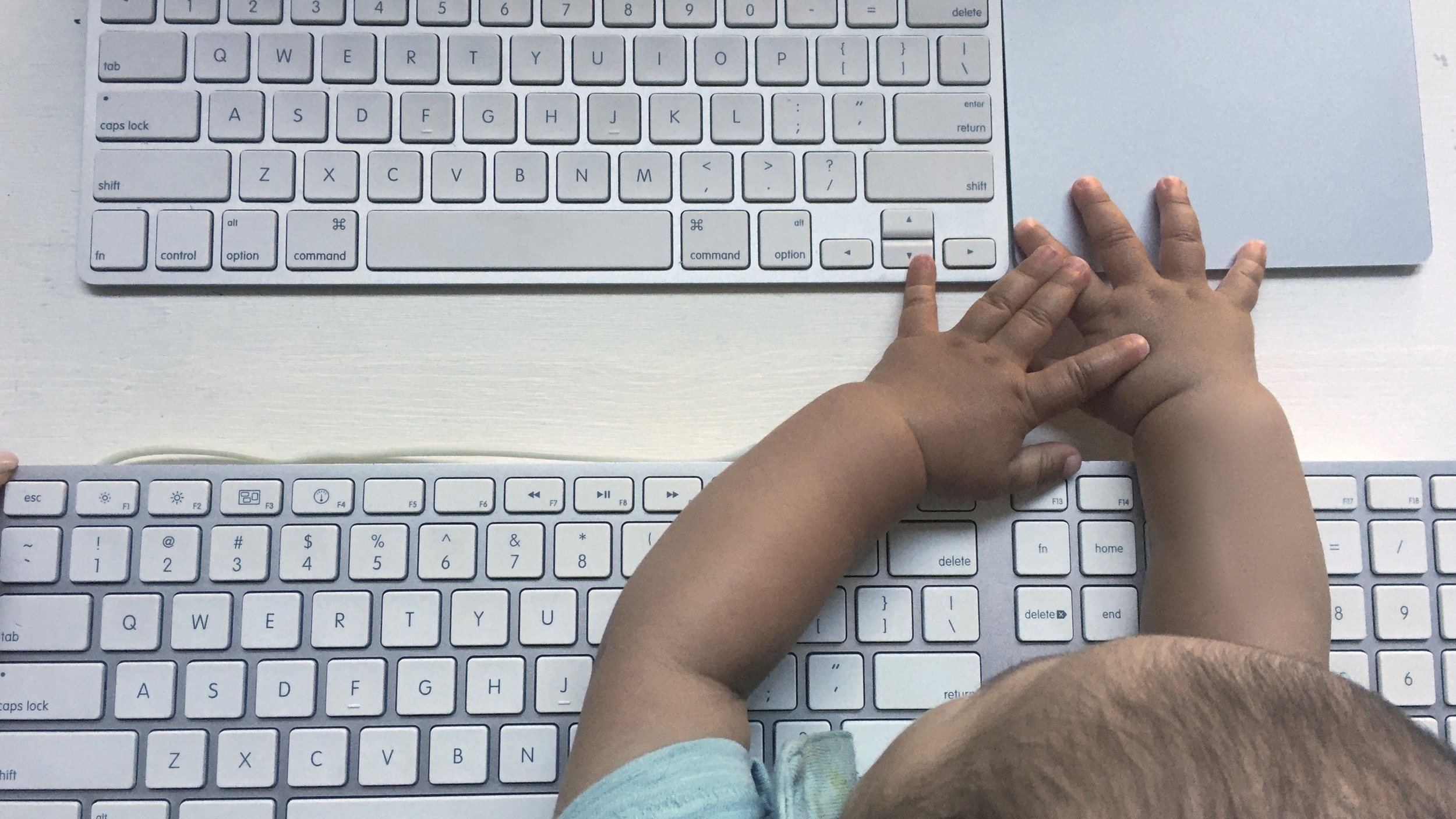 Above: Decoy keyboard to distract baby