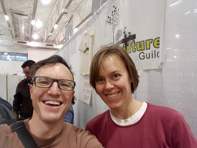 Josh with fellow Madison Area Permaculture Guild member Emily Steinwehe at the Wisconsin Garden Expo.
