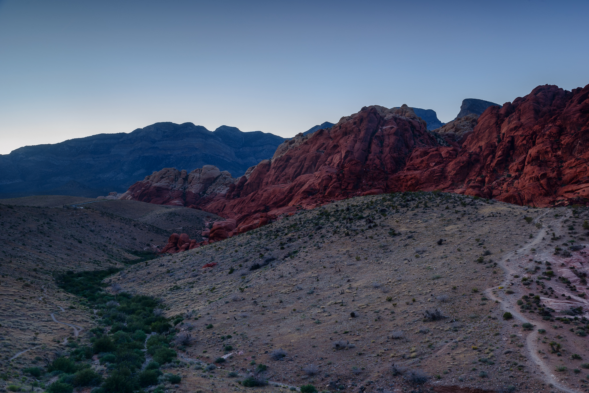 Purple twilight, my favorite. Red Rock National Conservation Area, NV.