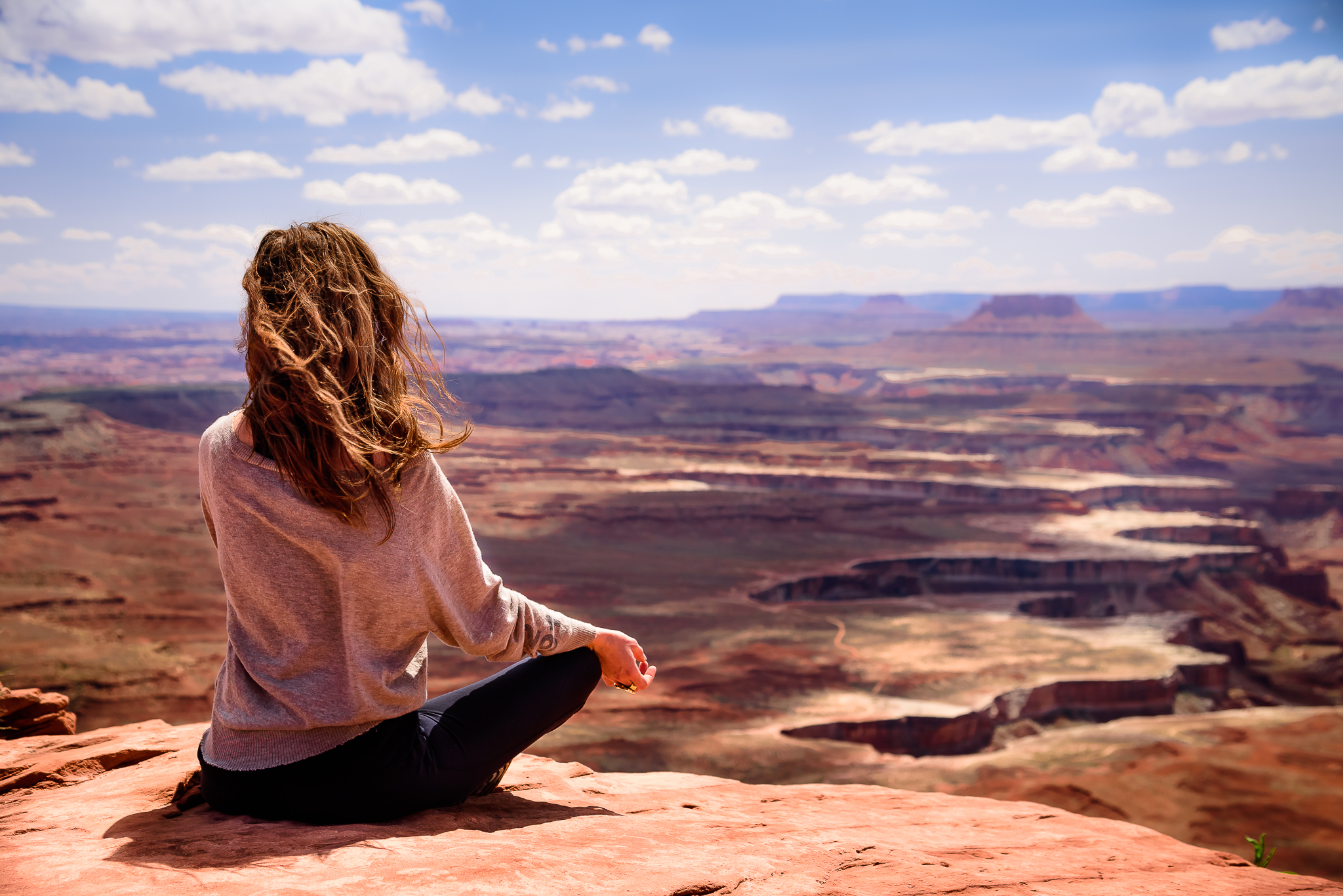 Much needed mid-cruise meditation. Canyonlands National Park, UT.