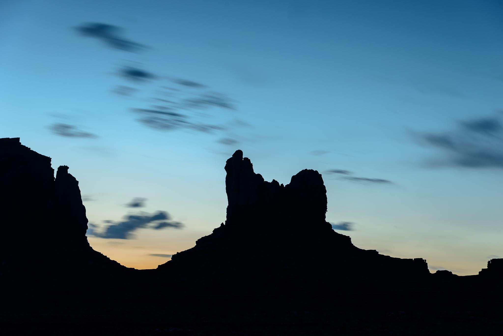 Twilight time. Monument Valley, UT.