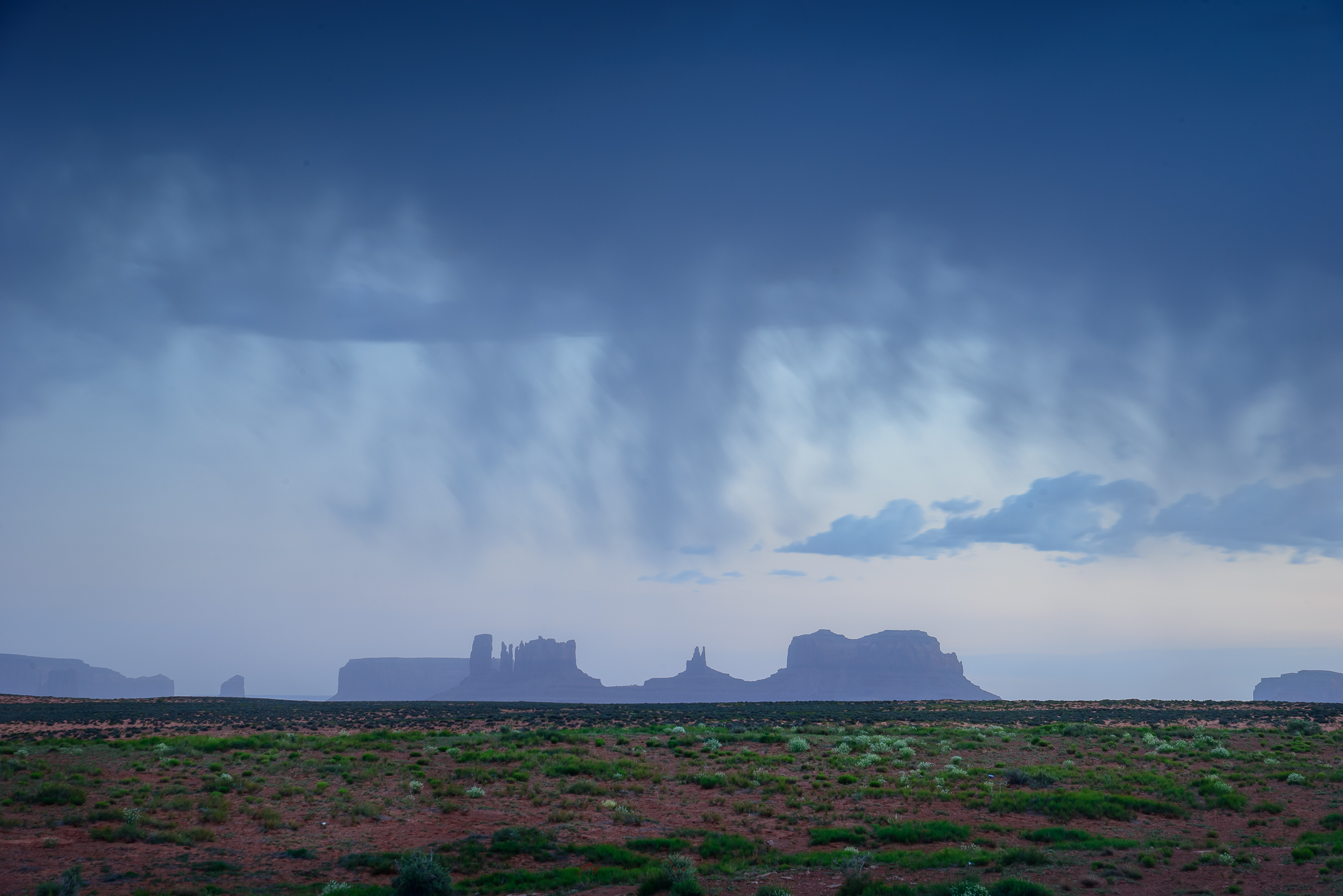 Sometimes sunset fizzles, and that's ok. Monument Valley, UT.