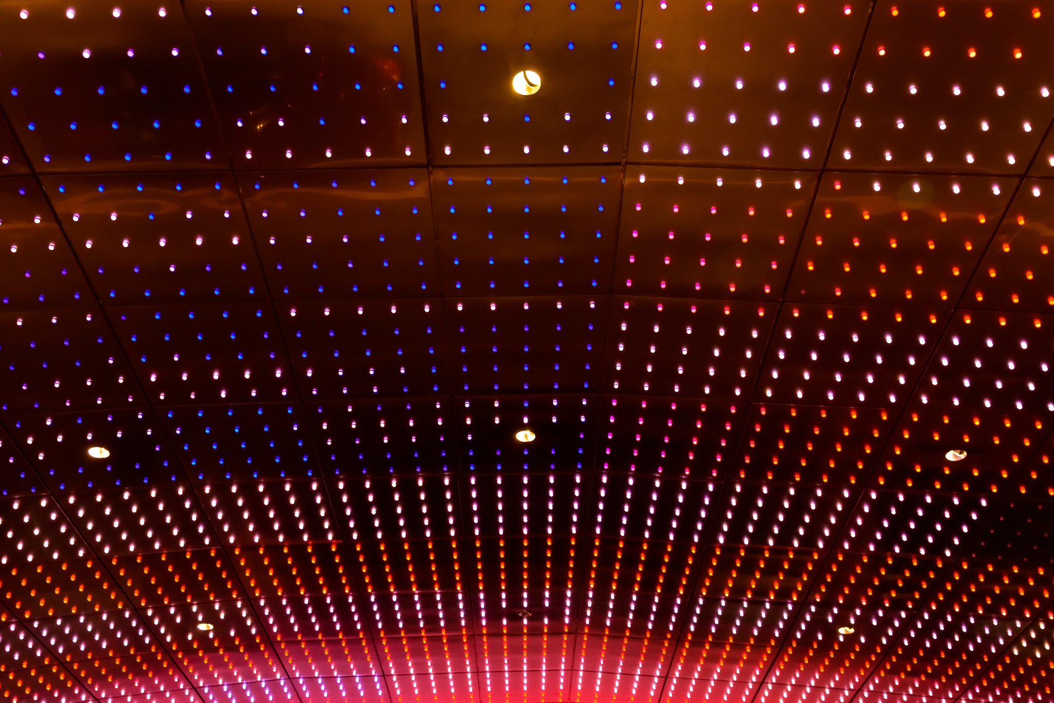 7/4/15. Happy 4th from the Motorcity Casino and their valet's wavy LED lights.