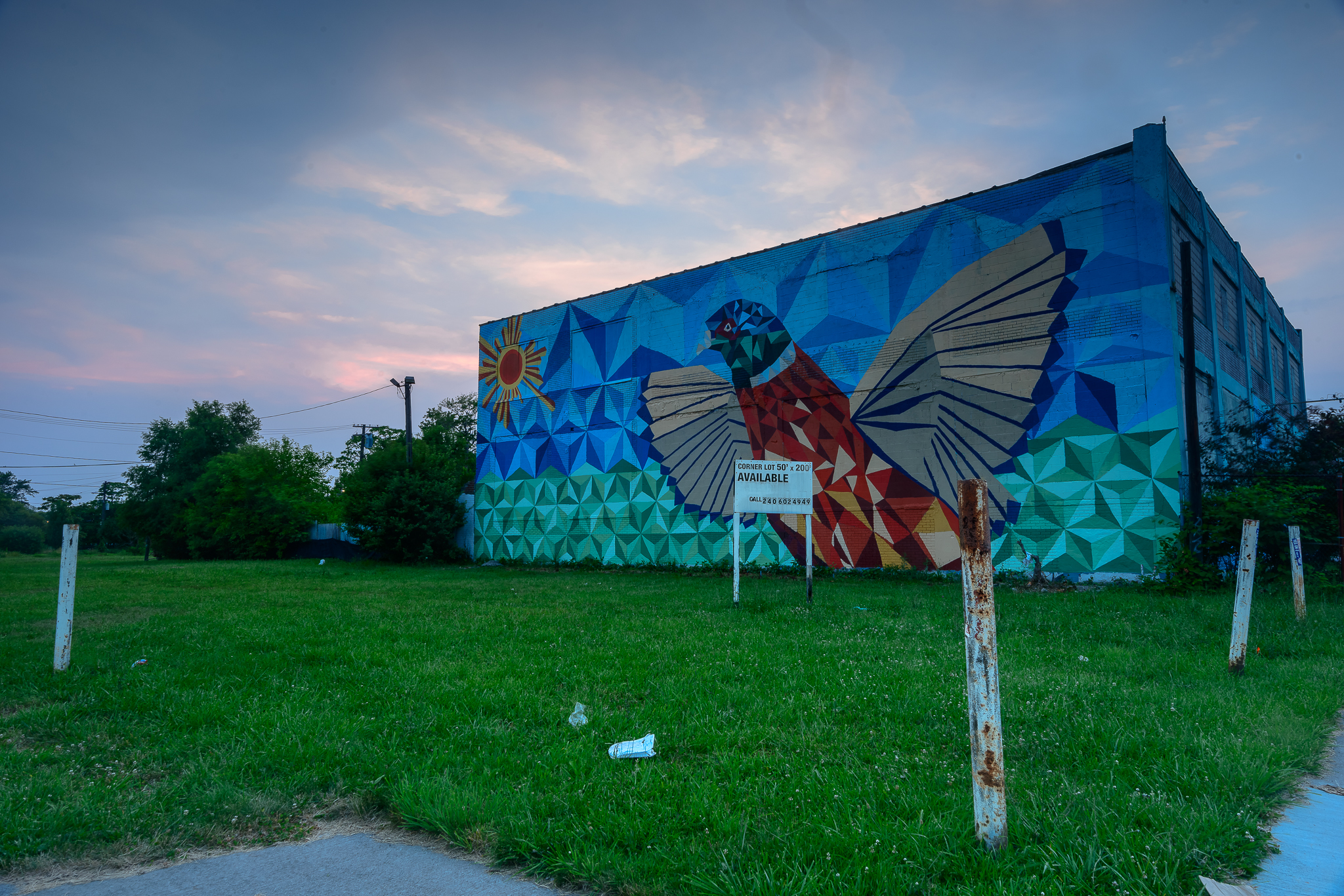 7/5/15. When a new mural pops up, you know. This one is a few blocks from our home.