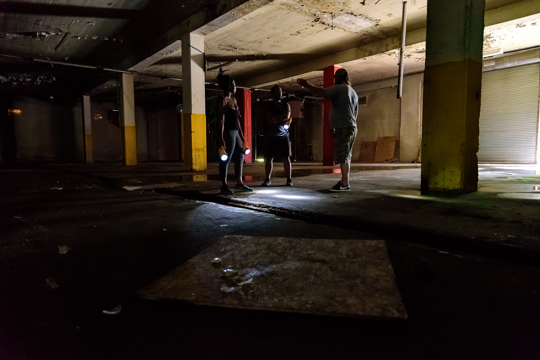 7/16/15. While tame, I got my first chance to explore an abandonded wharehouse. Ugh the possibilities....