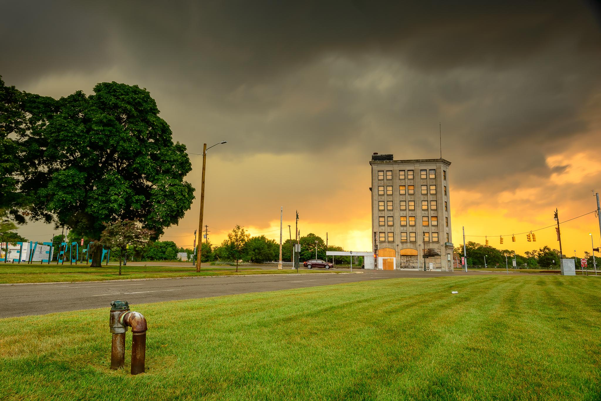 7/25/15. A proper return to Detroit. Roosevelt Park, just blocks from home.