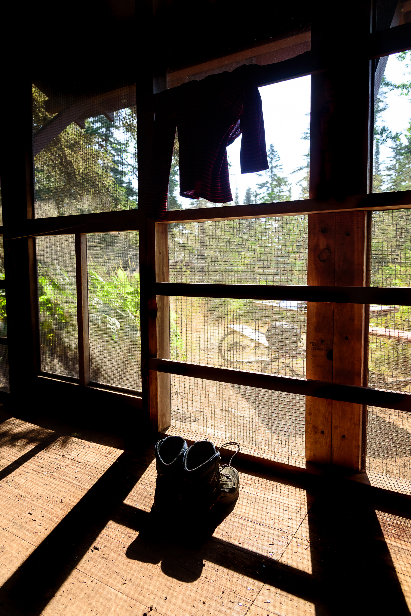 Almost too cozy of accommodations. Rock Harbor Campground, Isle Royale, NP.