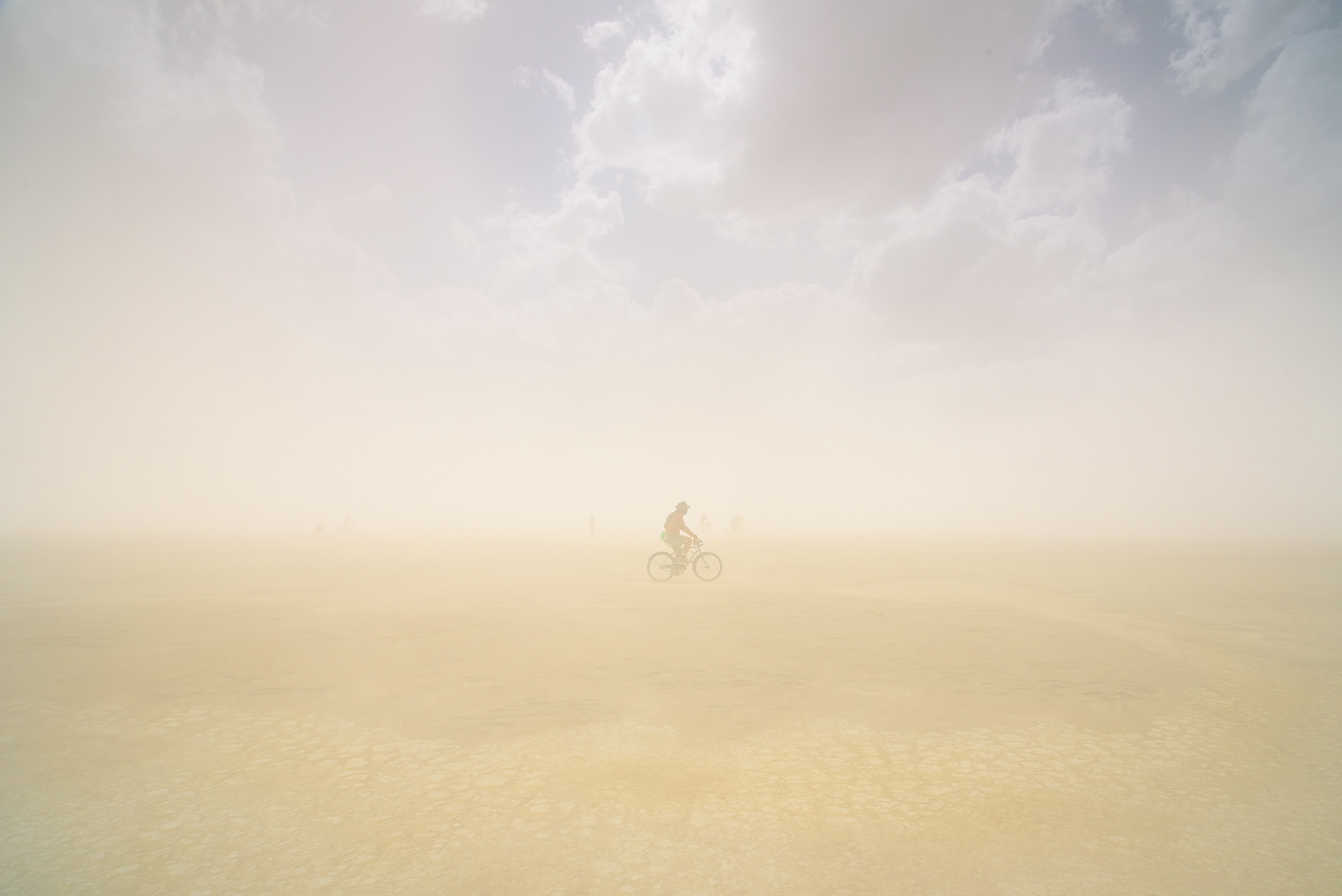 On this afternoon bike cruise we were hammered with arguably the heaviest dust storm we've ever experienced. I snapped this moments before visibility shrank to 10 feet for the next hour.