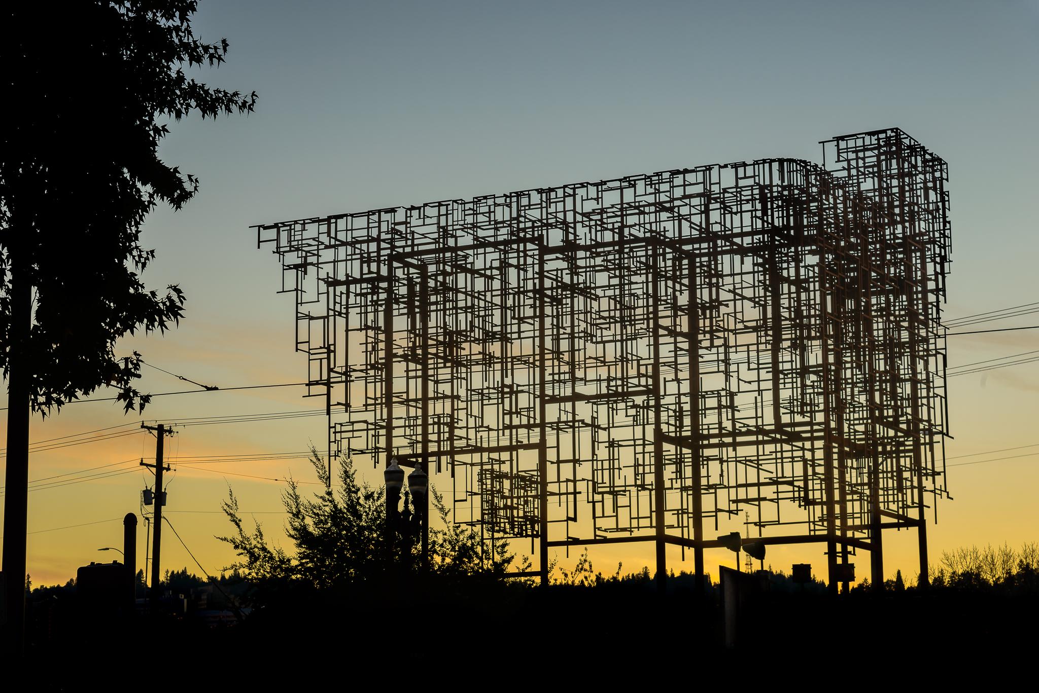 The central piece of Inversion: Plus Minus. Eastside, Portland.