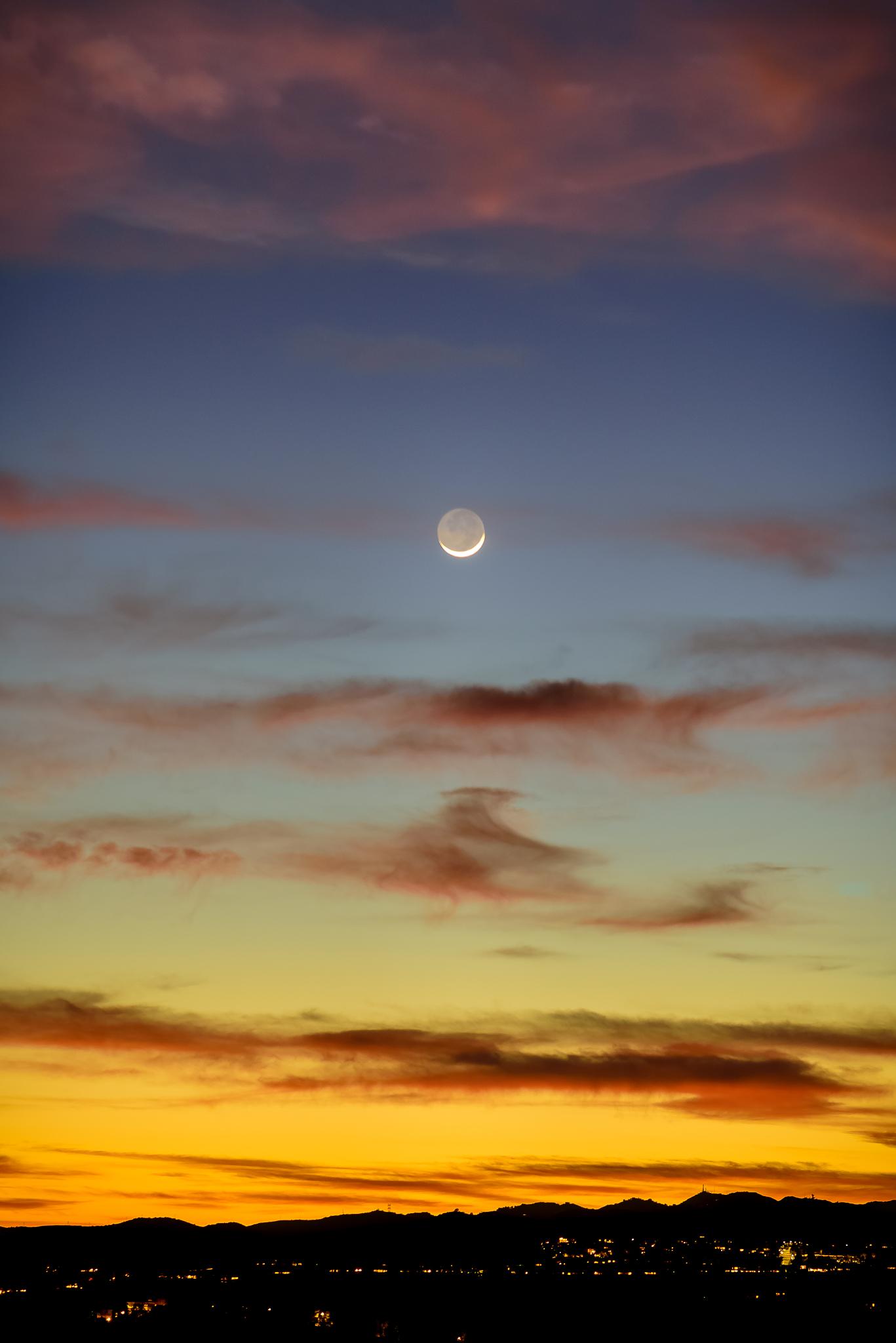 When the moon makes a surprise hello. LA