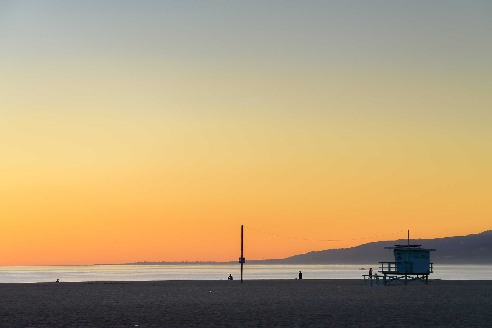 Sherbet skies on tap. Venice, CA