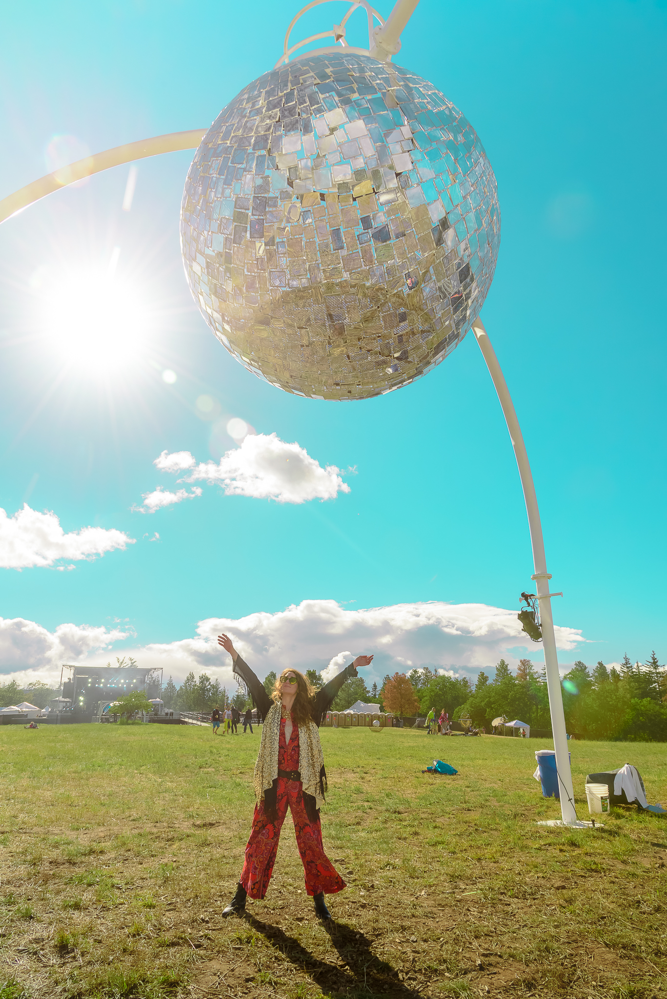 You know where to find her, under the giant disco ball, duh. What The Festival. Dufur, OR.