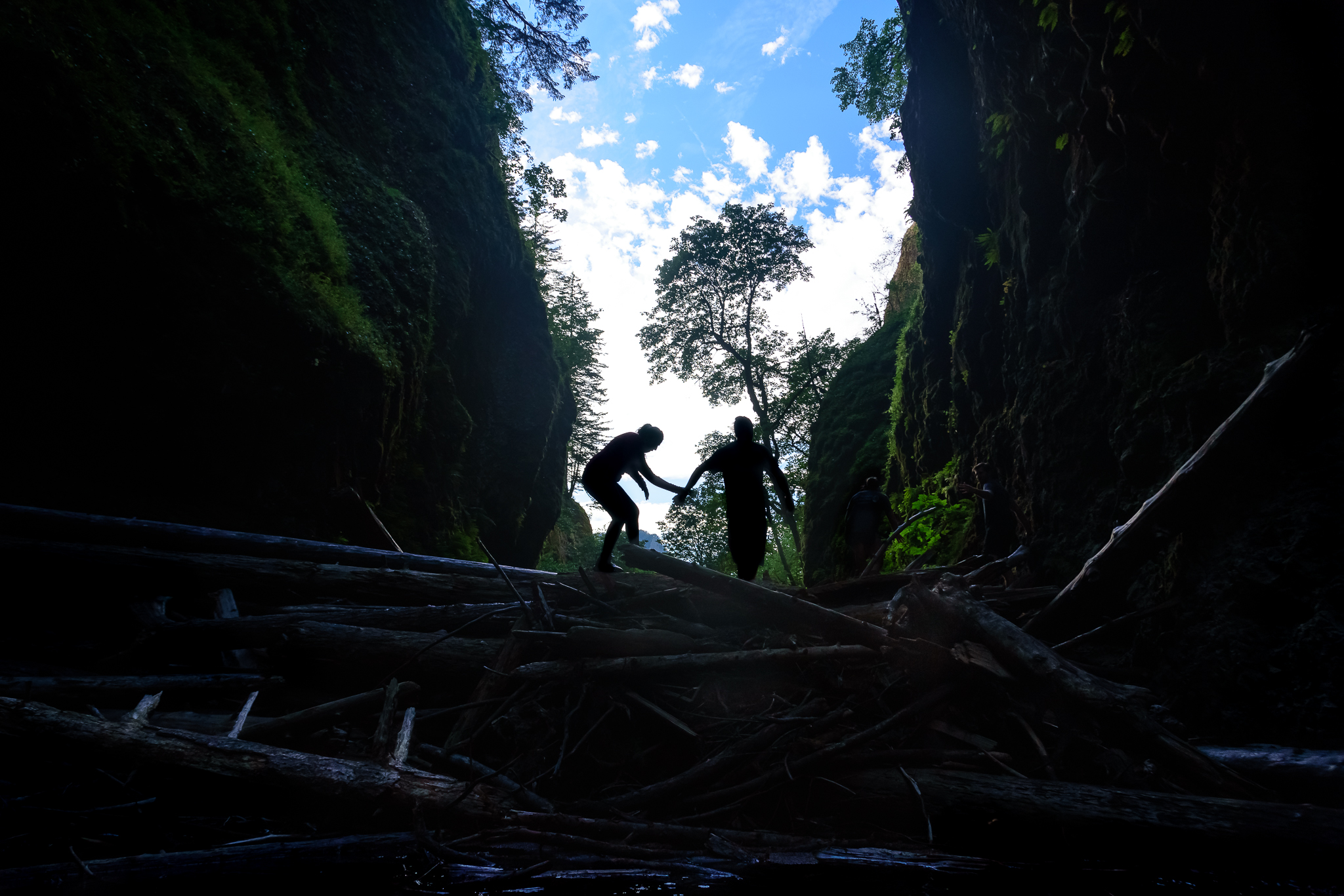 While short, the hike through Oneonta Gorge to the waterfall isn't without some challenging and slippery scrambles.