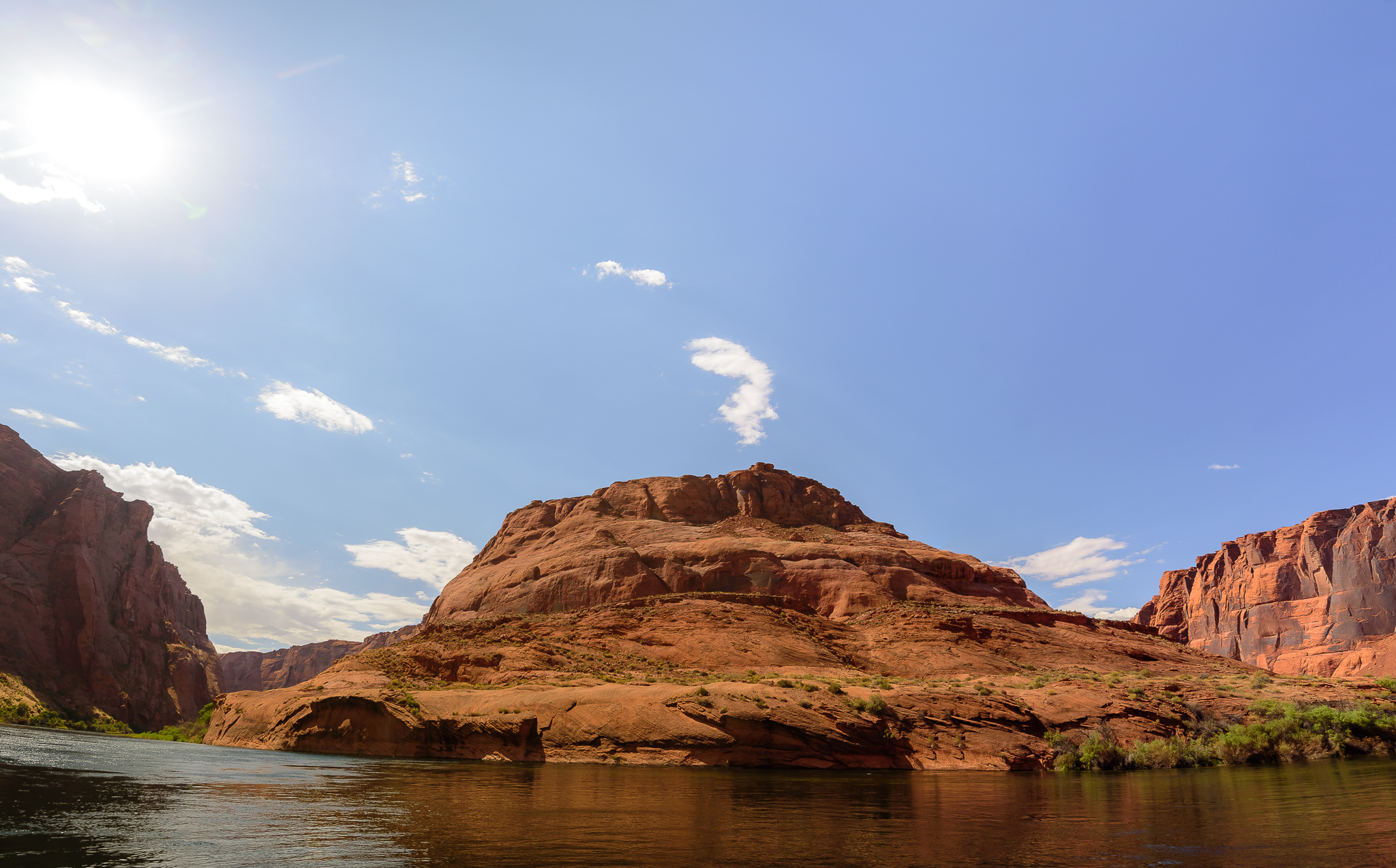Different from water level. The view of Horseshoe Bend from the actual bend. Page, AZ.