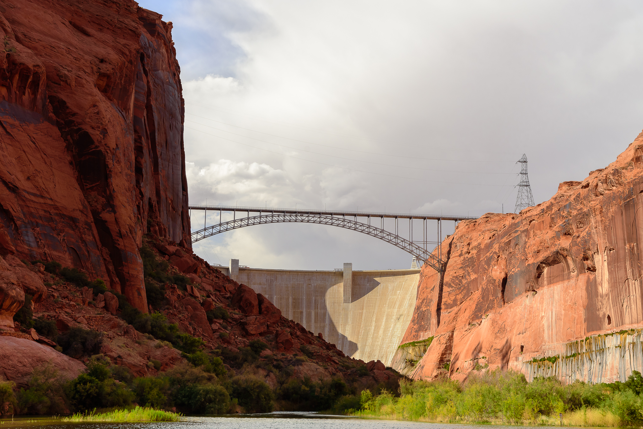 An engineering feat, the Glen Canyon Dam. Page, AZ.