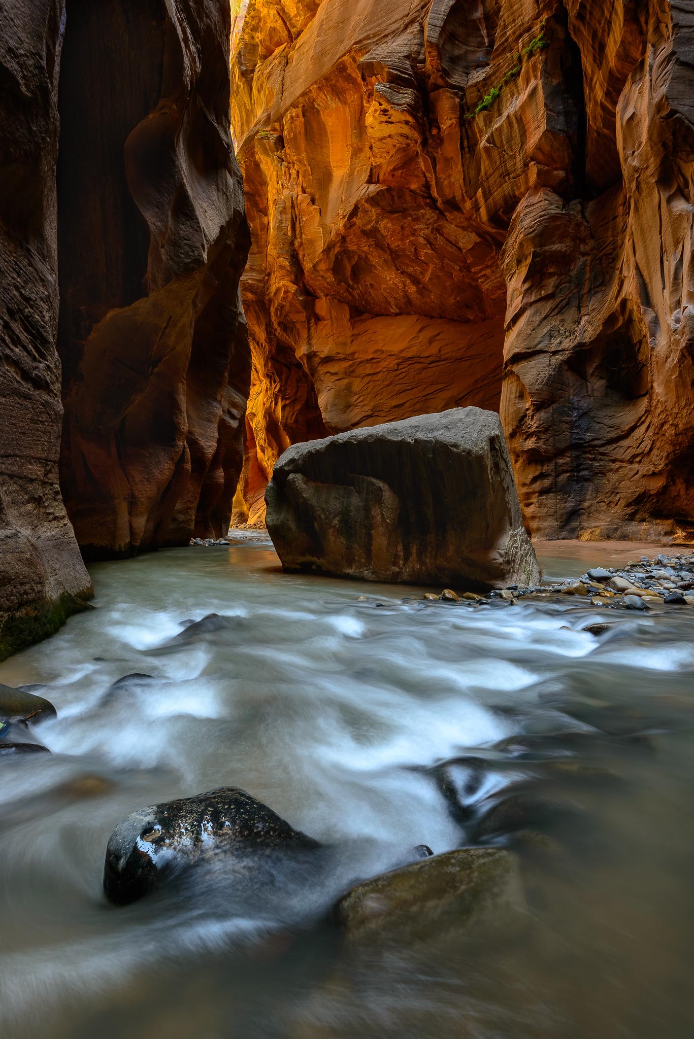 Reverse route light. Zion National Park, UT.