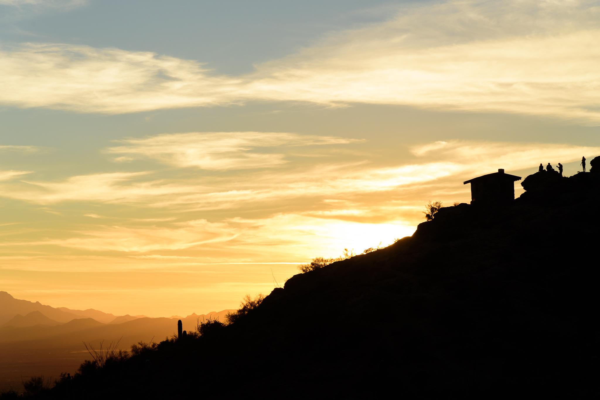 Hill climb just in time. Tucson Mountain Park, AZ.