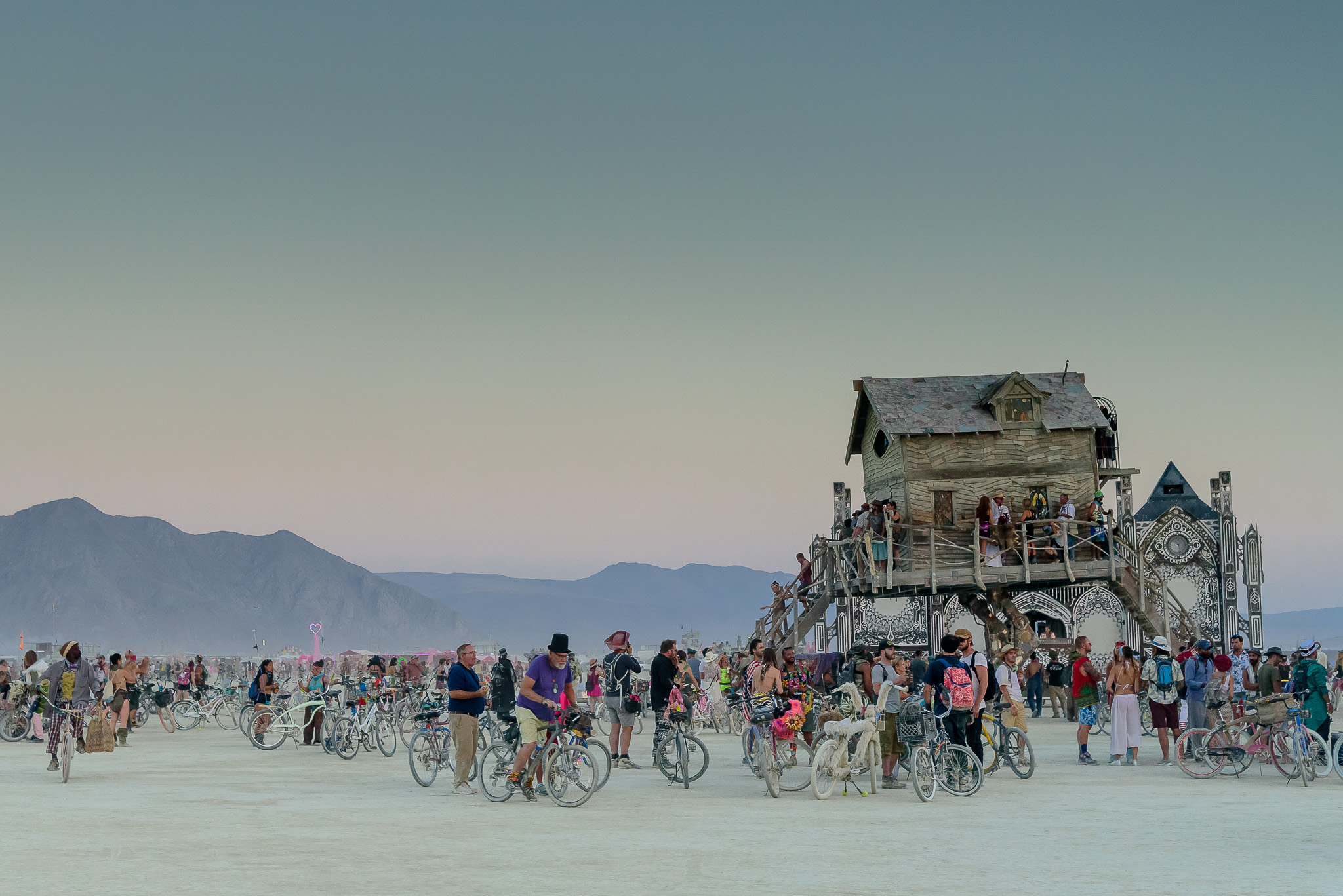 The Russian folktale of 'Baba Yaba' brought to life was arguably our favorite art piece of 2018. Much needed proof that fairytales do still exist on the playa. Black Rock City, NV.