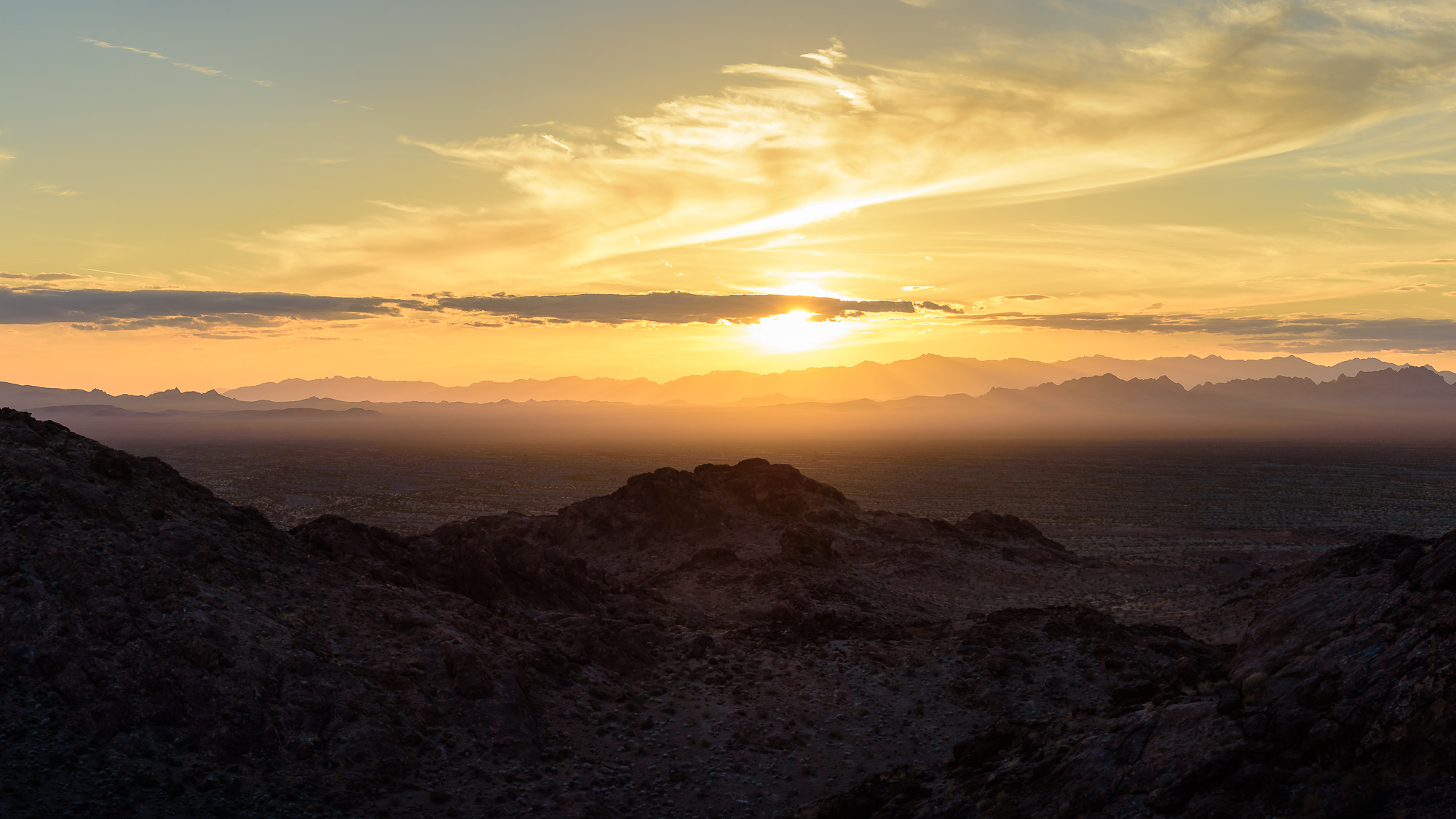 Looking into the Turtle Mountain Wilderness. Mojave Desert, CA