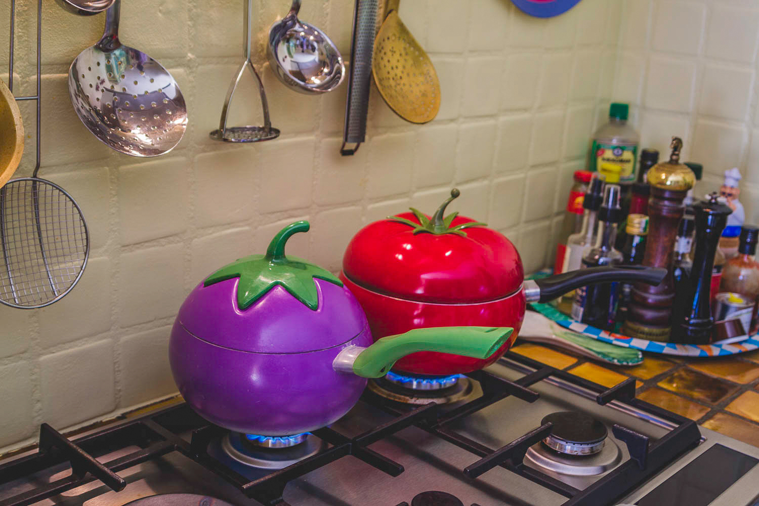 Colourful cookwares...