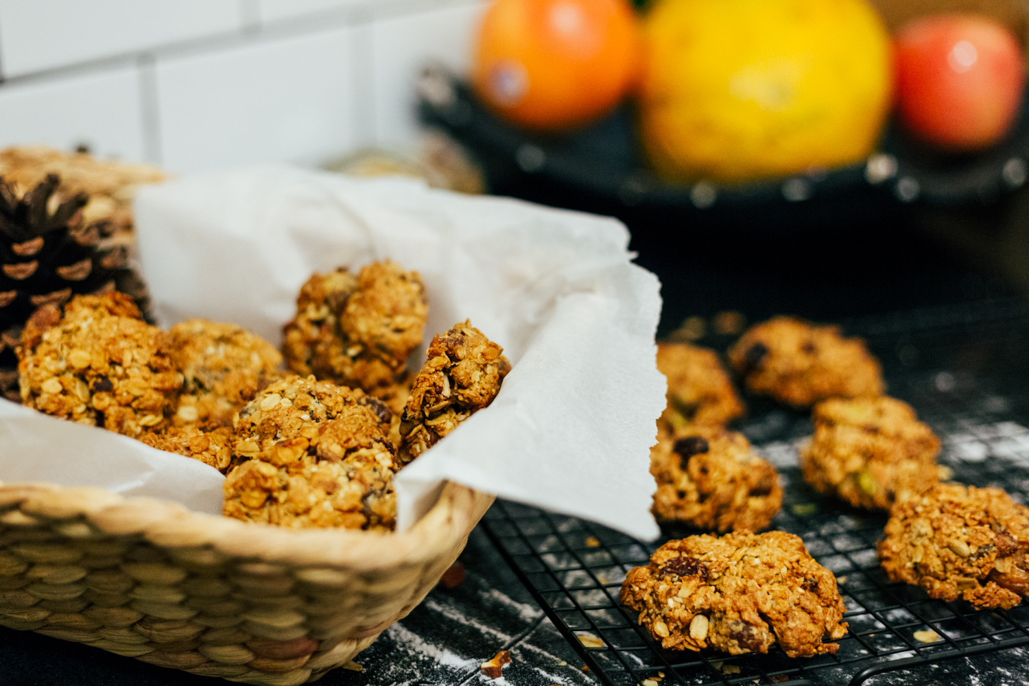 I love the crunchiness from coconut and fig seeds. Whole meal flour made them more nutritious!