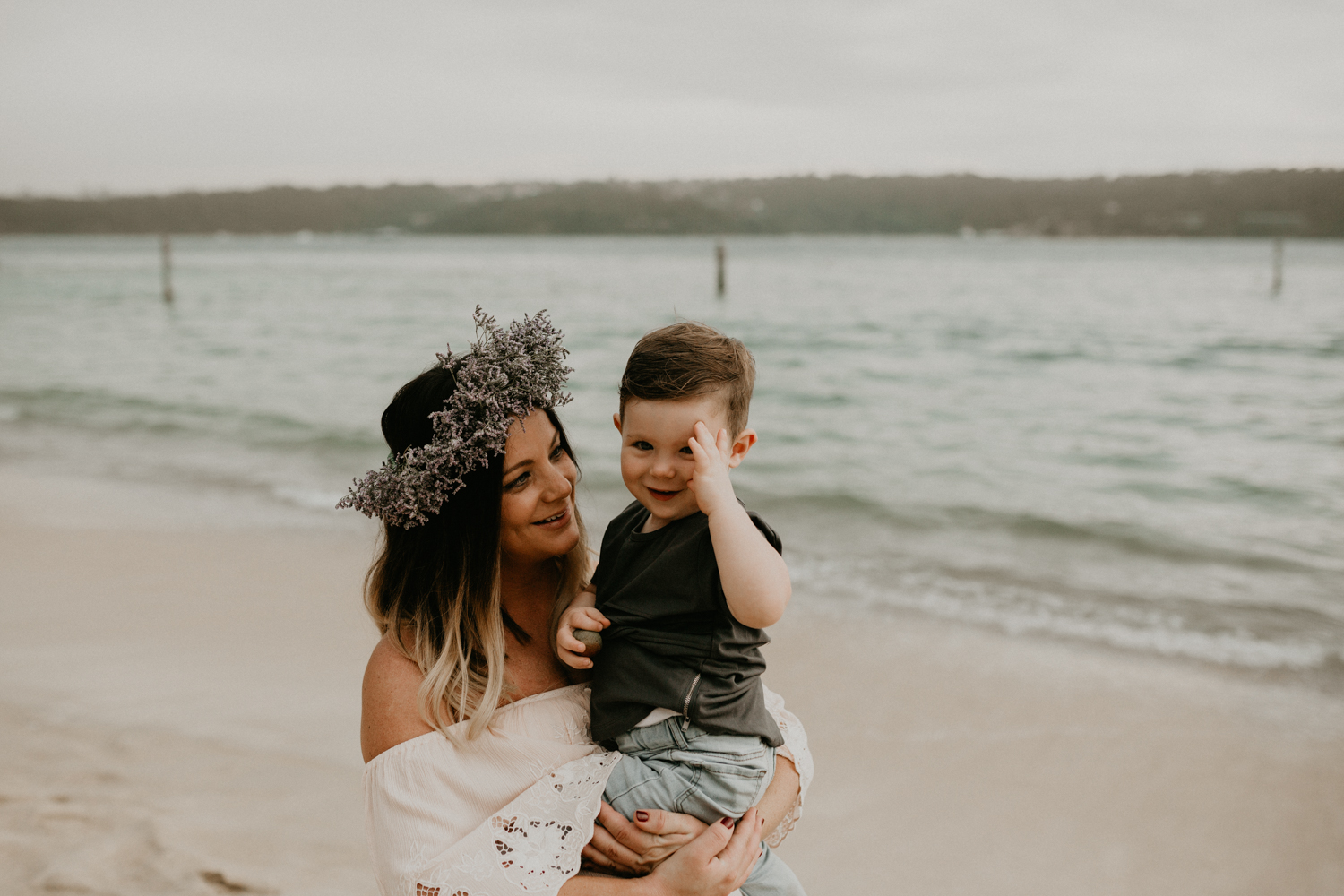 Beautiful Mother and Son Portrait at Sydney's Beach-6.jpg