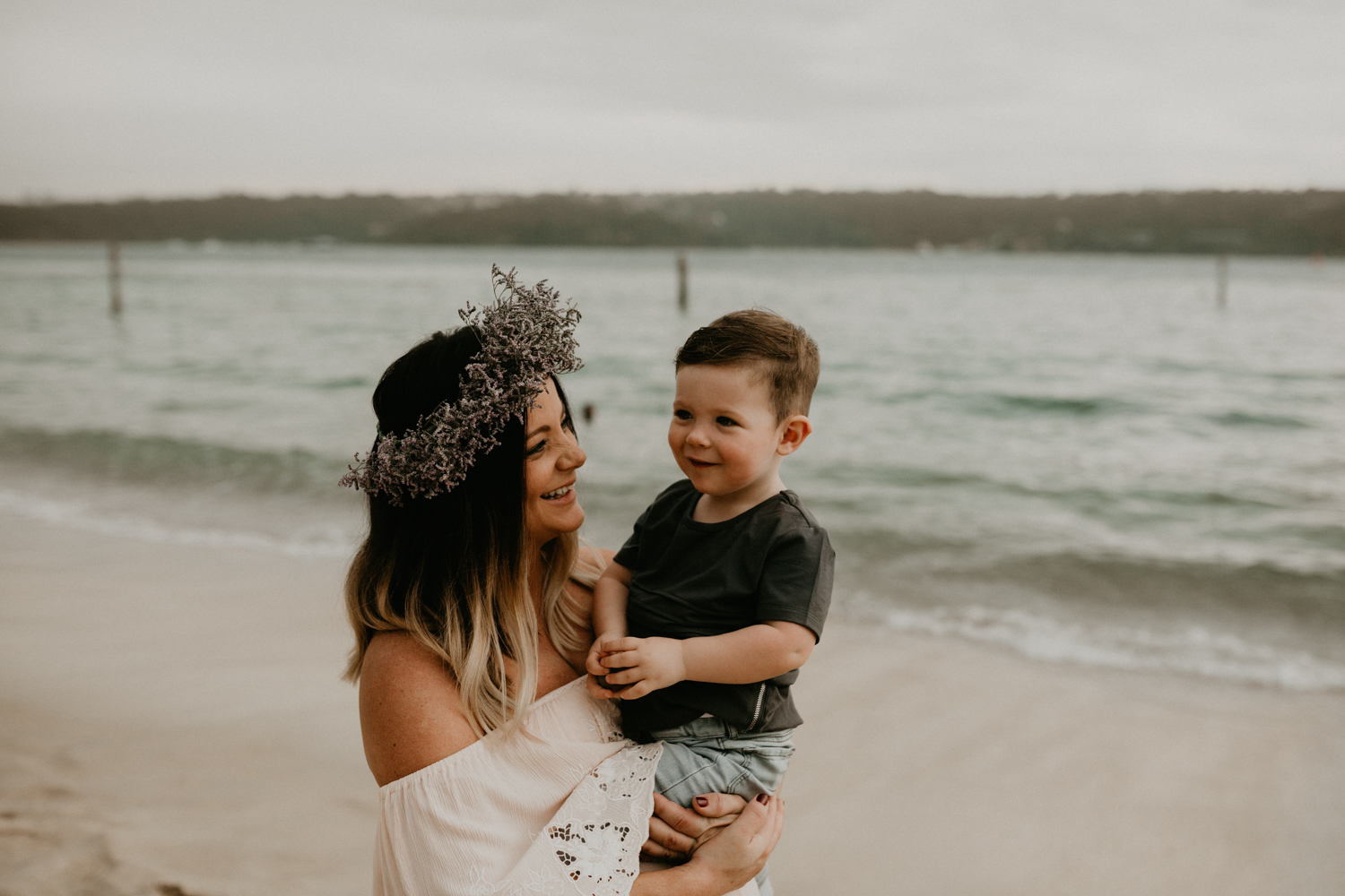 Beautiful Mother and Son Portrait at Sydney's Beach-5.jpg