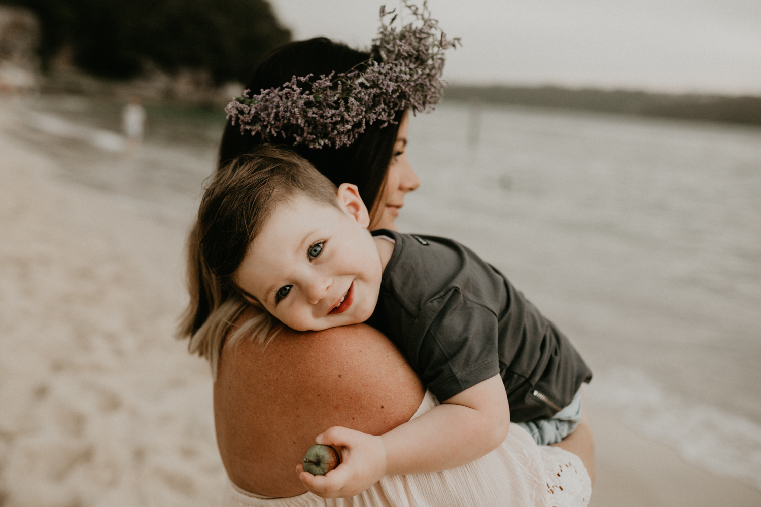 Beautiful Mother and Son Portrait at Sydney's Beach-2.jpg