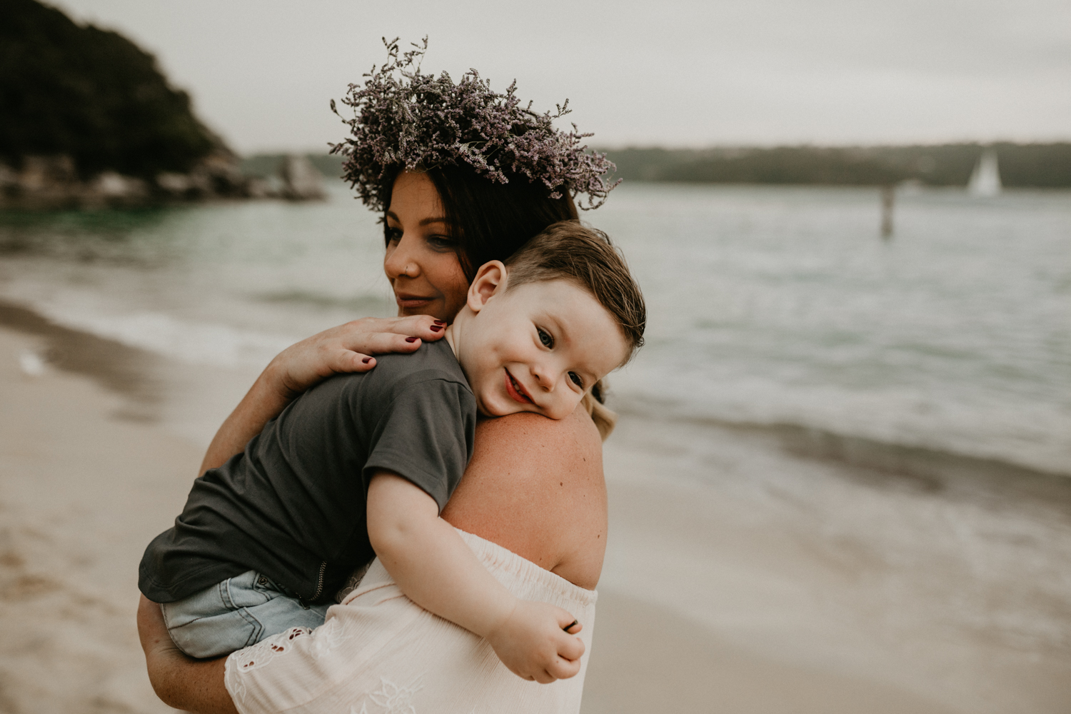 Beautiful Mother and Son Portrait at Sydney's Beach-1.jpg