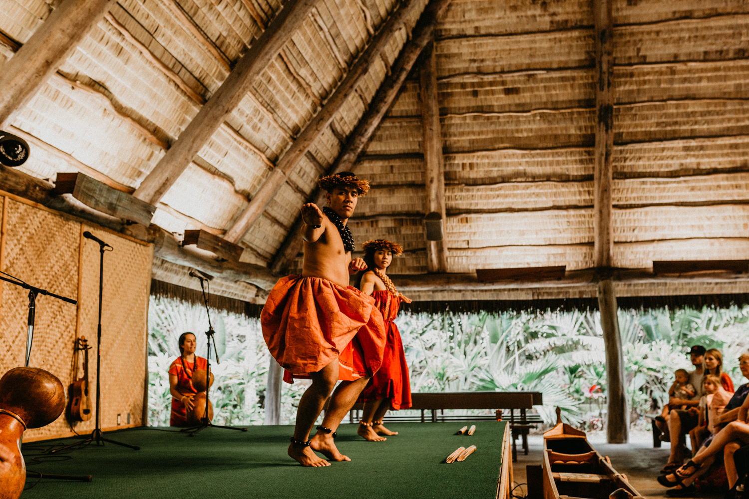 Some fun history about the instrument and dance demonstration in Polynesian Cultural Centre.
