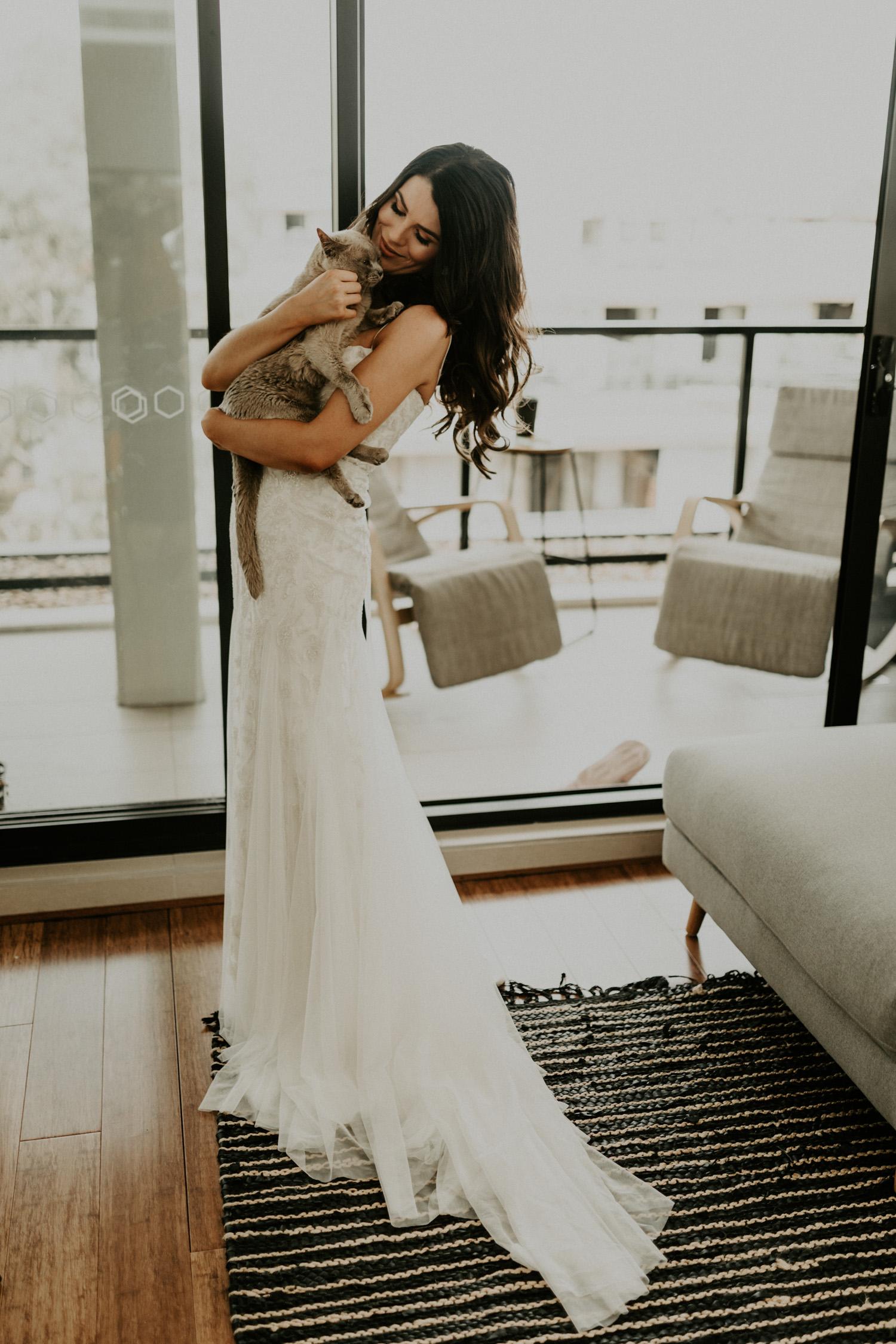 KWH Bridal dress wedding bride and cat-2.jpg