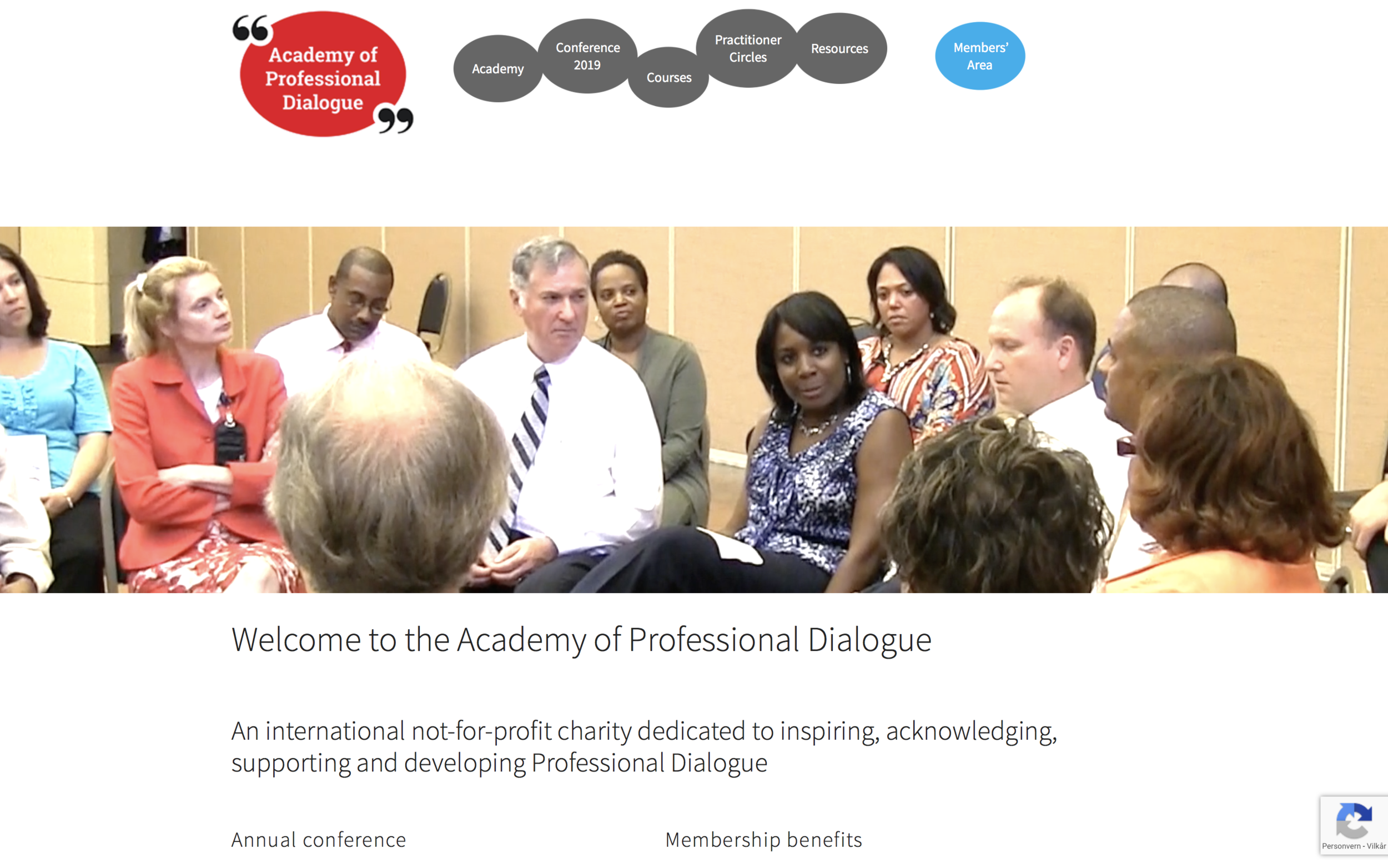 Academy of Professional Dialogue - An international not-for-profit charity dedicated to inspiring, acknowledging, supporting and developing Professional Dialogue.