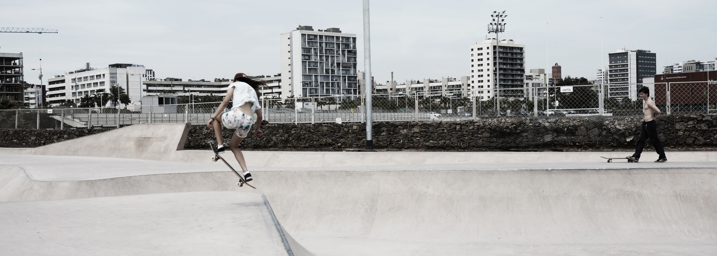 Skate park at Marbella, Barcelona:An example of a static urbanenvironment.
