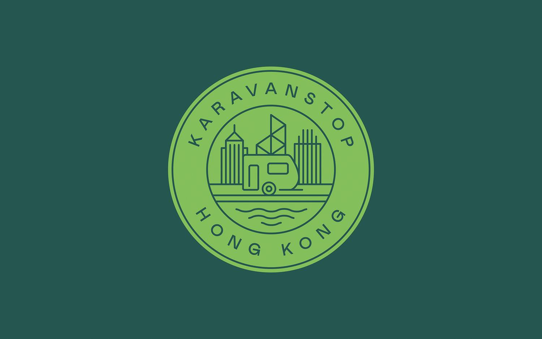 Karavanstop  —A playfully 'Hong Kong' identity system